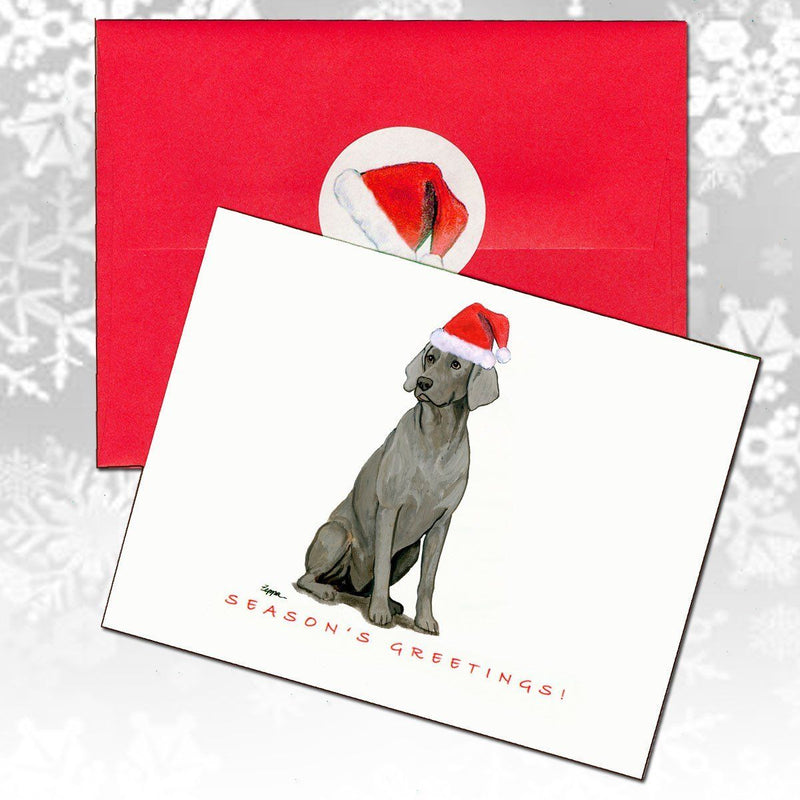 Weimaraner Christmas Note Cards