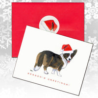 Cardigan Welsh Corgi Christmas Note Cards