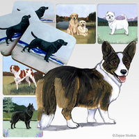Cardigan Welsh Corgi Scenic Coaster