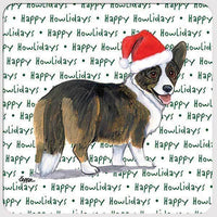 "Cardigan Welsh Corgi ""Happy Howlidays"" Coaster"