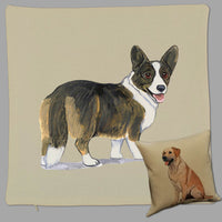 Cardigan Welsh Corgi Pillow Cover