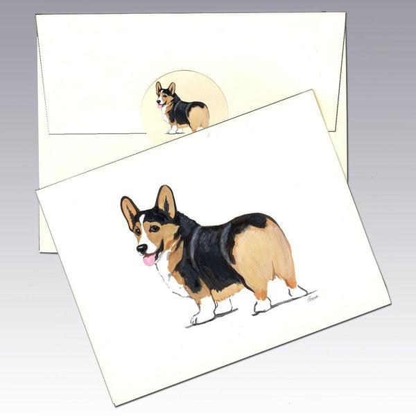 Pembroke Welsh Corgi, Tri Color Note Cards