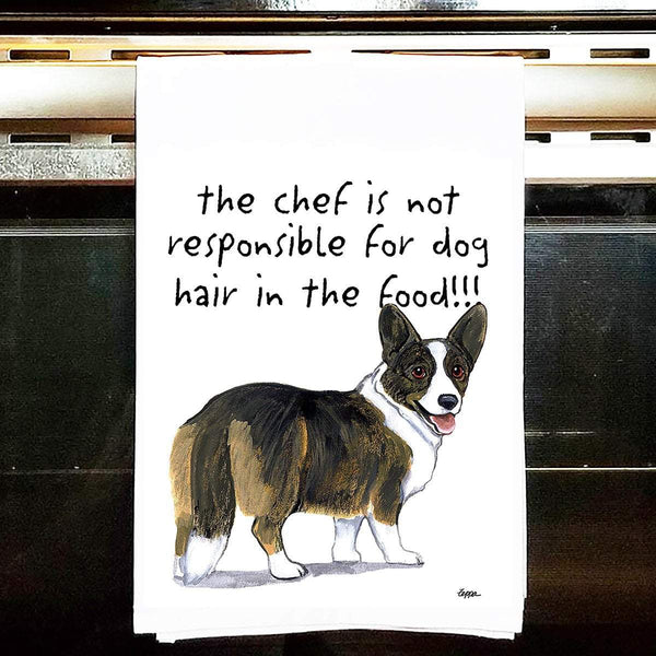 Cardigan Welsh Corgi Tea Towel