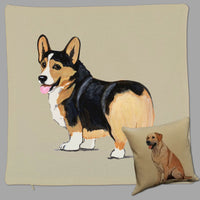 Pembroke Welsh Corgi Pillow Cover
