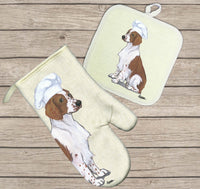 Welsh Springer Spaniel Oven Mitt and Pot Holder
