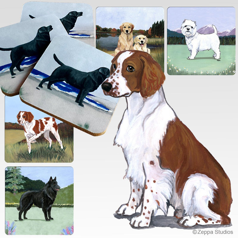 Welsh Springer Spaniel Scenic Coaster