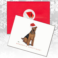 Welsh Terrier Christmas Note Cards