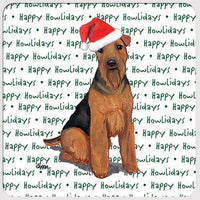 "Welsh Terrier ""Happy Howlidays"" Coaster"