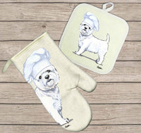 West Highland White Terrier Oven Mitt and Pot Holder