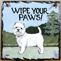 West Highland White Terrier Slate Sign