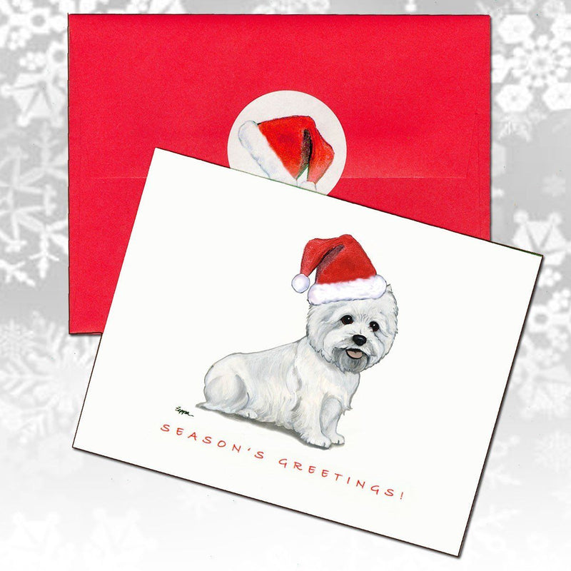 West Highland White Terrier Christmas Note Cards