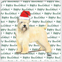 "Wheaten Terrier (Soft Coated) ""Happy Howlidays"" Coaster"