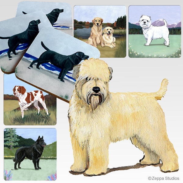 Soft Coated Wheaten Terrier Scenic Coaster