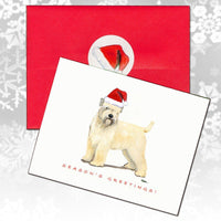 Wheaten Terrier (Soft Coated) Christmas Note Cards