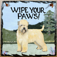 Soft Coated Wheaten Terrier Slate Sign