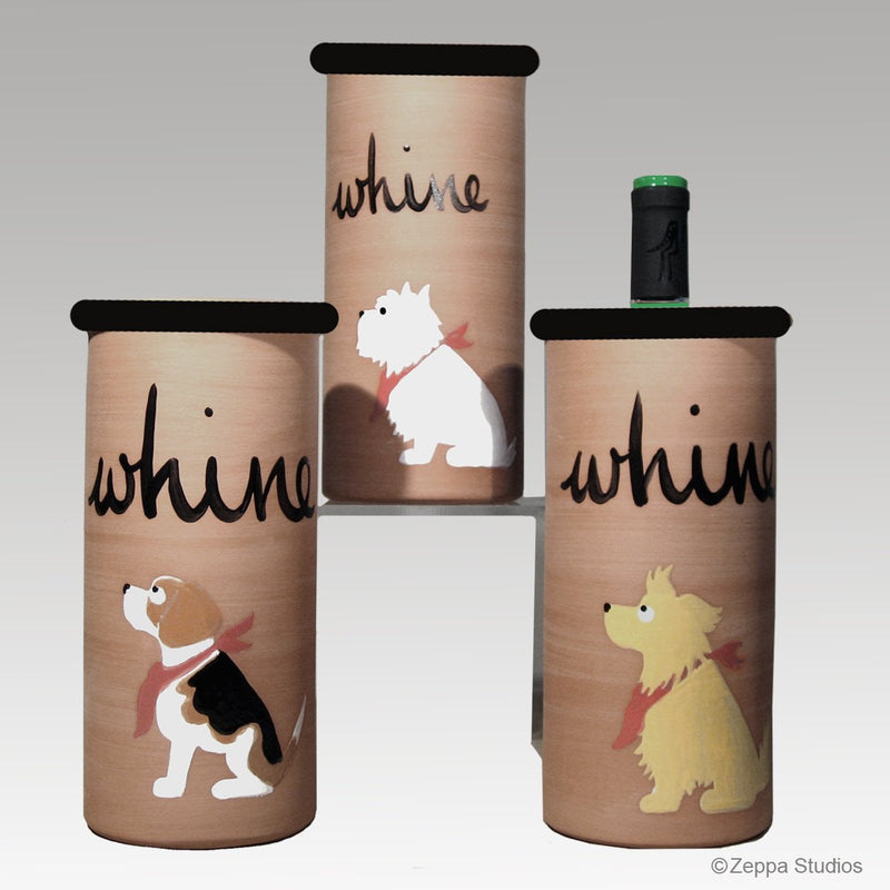 "Hand-Painted ""Whine"" Cooler"