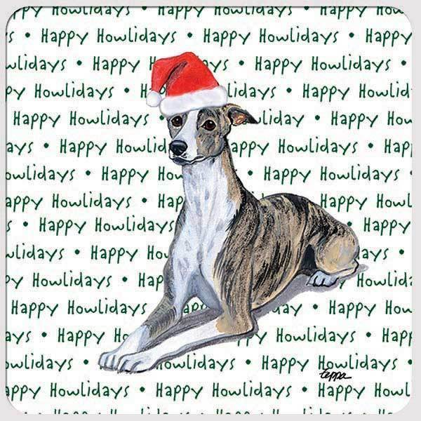 "Whippet ""Happy Howlidays"" Coaster"