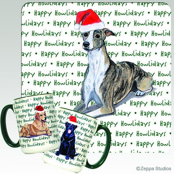 Whippet Holiday Mug