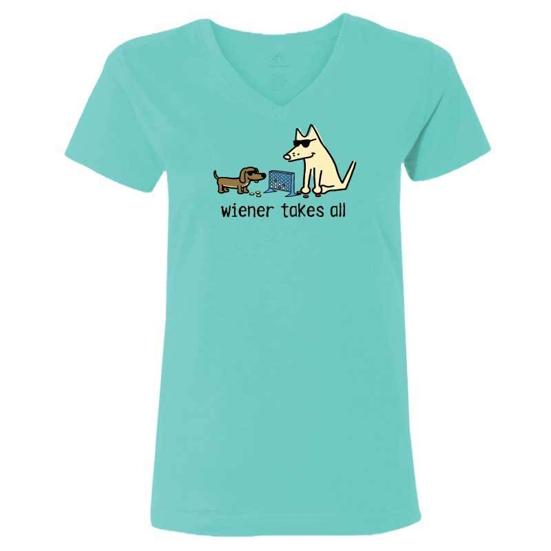 Wiener Takes All - Ladies T-Shirt V-Neck