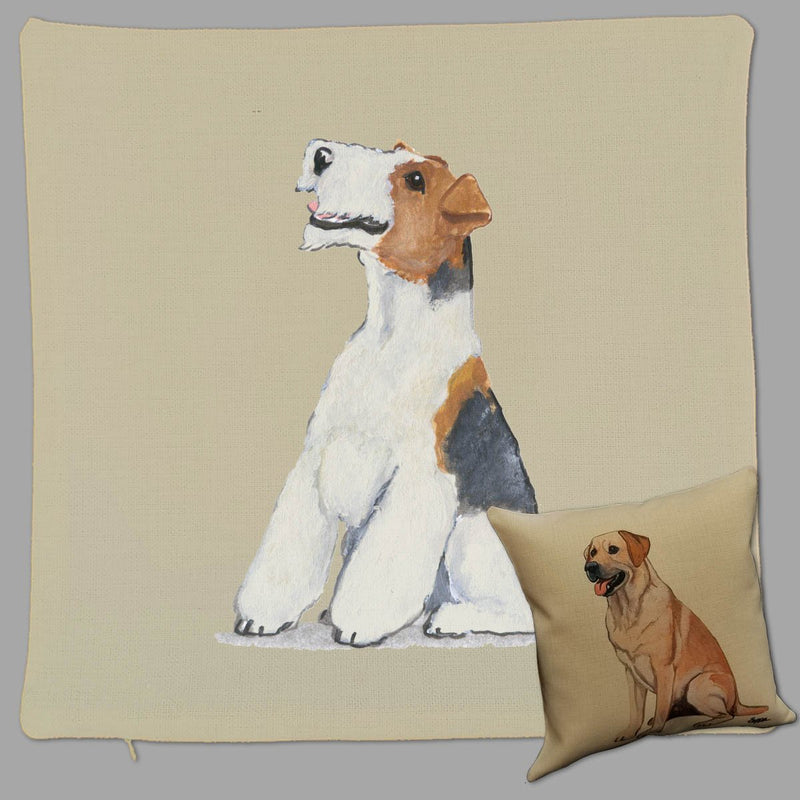 Wire Fox Terrier Pillow Cover
