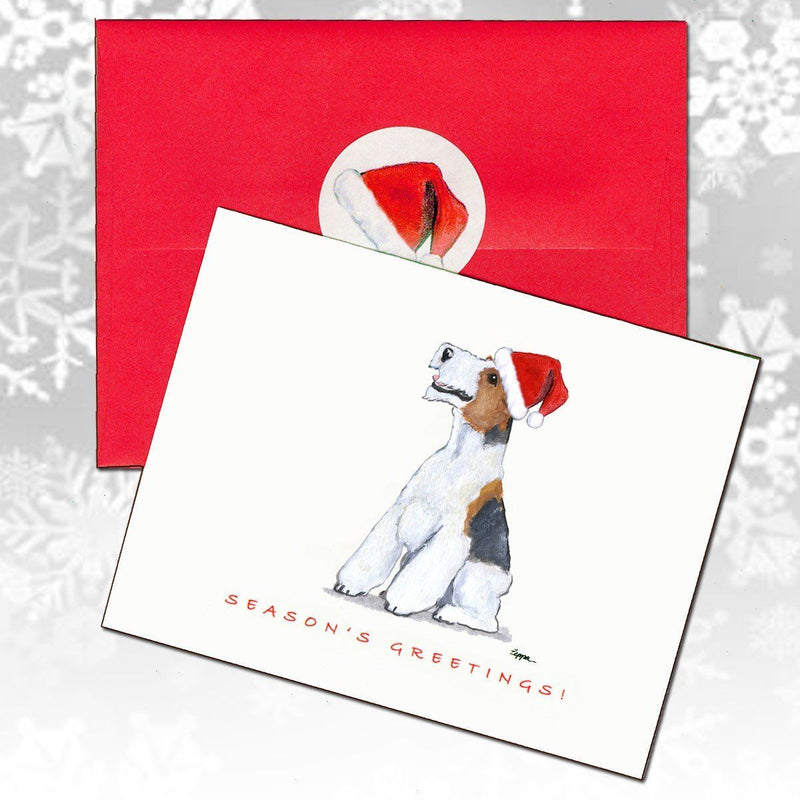Wire Fox Terrier Christmas Note Cards