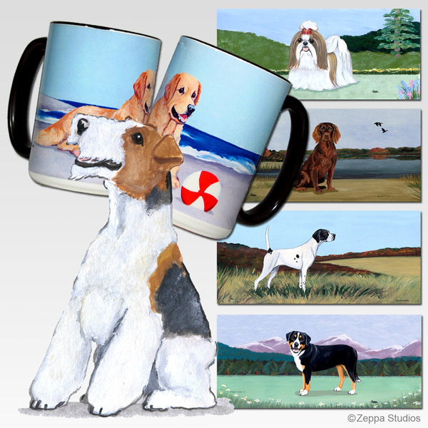 Wire Fox Terrier Scenic Mug