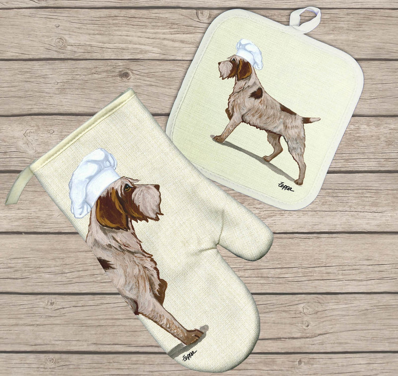 Wirehaired Pointing Griffon Oven Mitt and Pot Holder