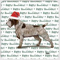 "Wirehaired Pointing Griffon ""Happy Howlidays"" Coaster"