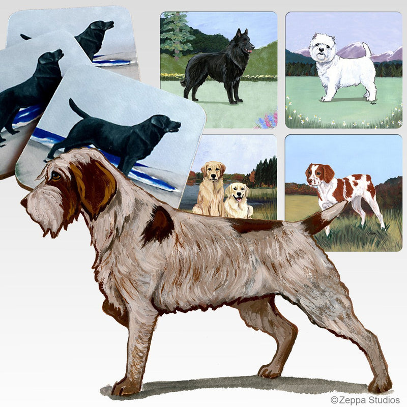 Wirehaired Pointing Griffon Scenic Coaster