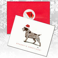 Wirehaired Pointing Griffon Christmas Note Cards
