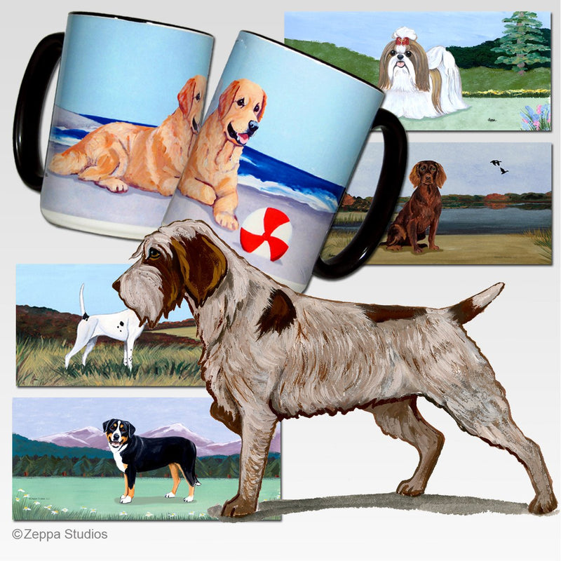Wirehaired Pointing Griffon Scenic Mug