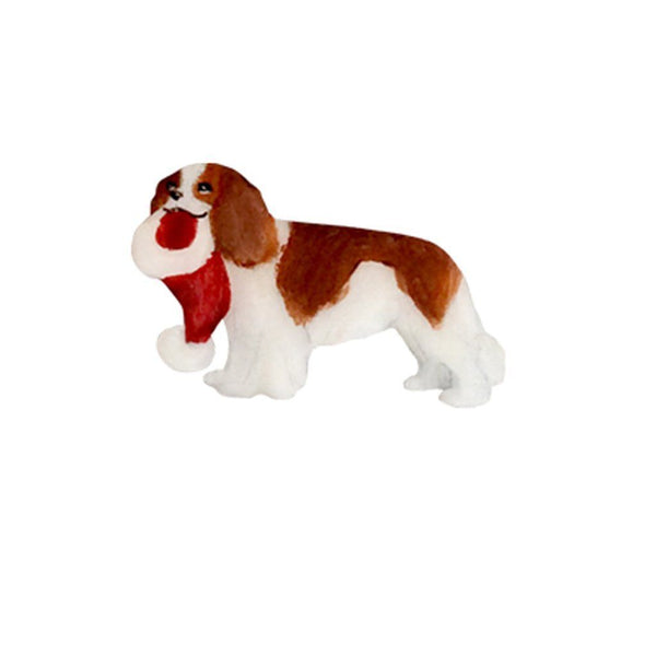 Cavalier King Charles Spaniel Hand-Painted Holiday Pin