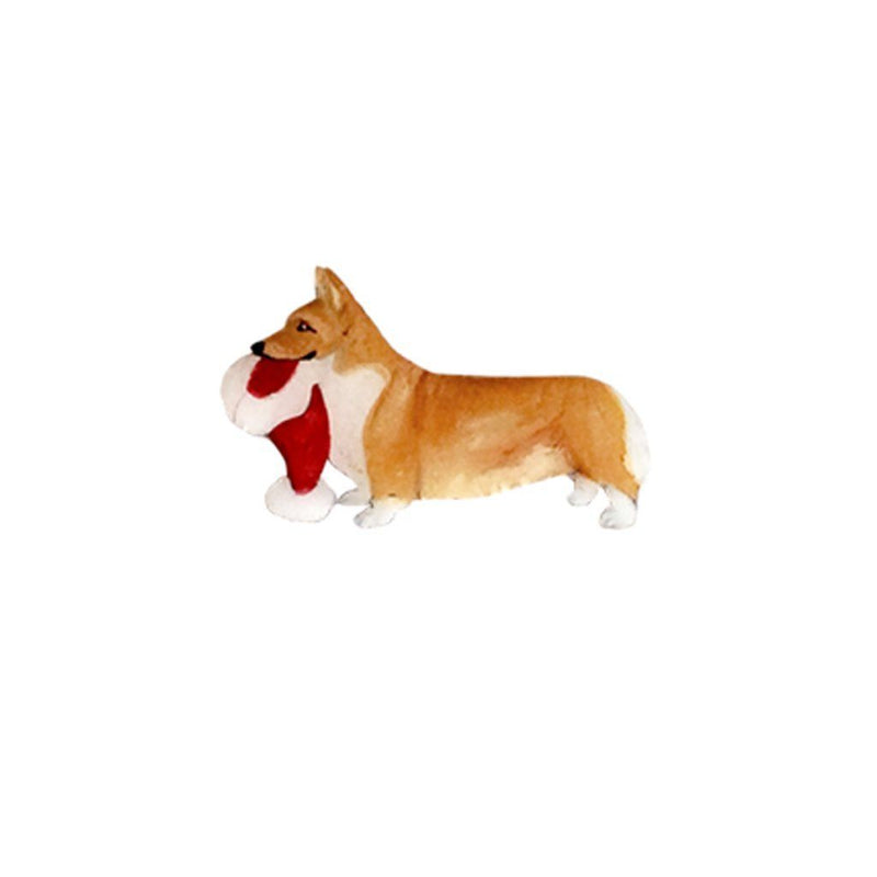 Pembroke Welsh Corgi Hand-Painted Holiday Pin
