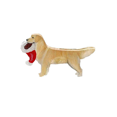 Golden Retriever Hand-Painted Holiday Pin