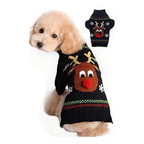 Christmas Cartoon Reindeer Dog Sweater