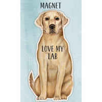 I Love My Yellow Lab Magnet