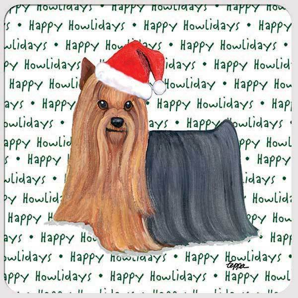 "Yorkshire Terrier ""Happy Howlidays"" Coaster"