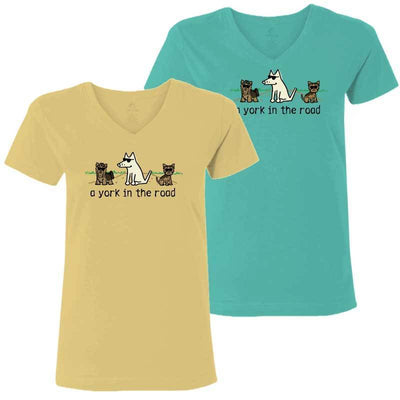 A York In the Road - Ladies T-Shirt V-Neck