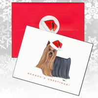 Yorkshire Terrier Christmas Note Cards
