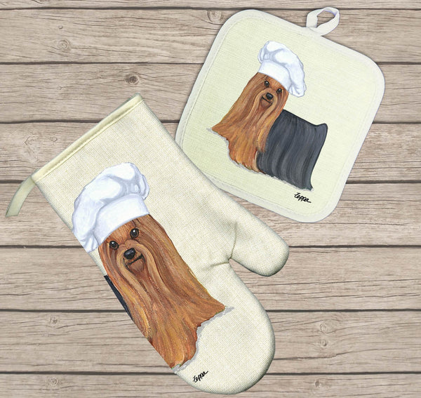 Yorkshire Terrier Oven Mitt and Pot Holder