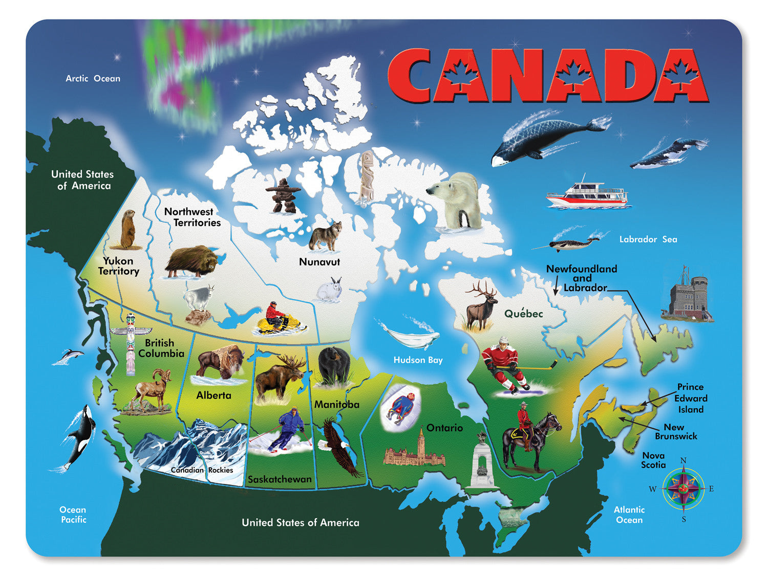 Melissa Doug Canada Map You Are My Everything Yame Inc - Canada map