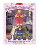 Melissa & Doug Royal Family Wooden Doll Set 286