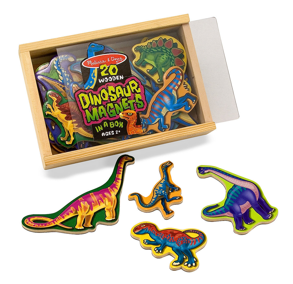 Melissa & Doug Wooden Dinosaur Magnets 476