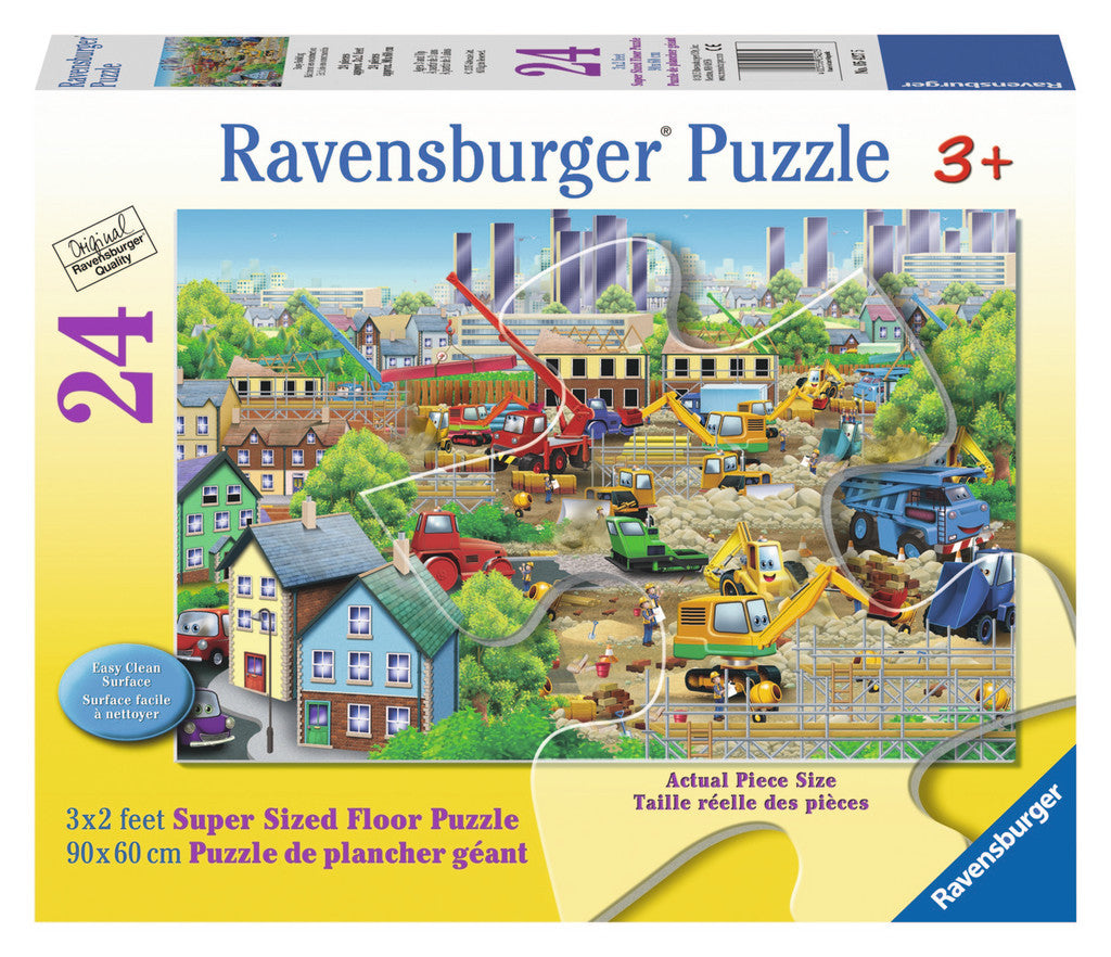 Ravensburger Children's Puzzles 24 pc Super Sized Floor Puzzles - Busy Building 5427