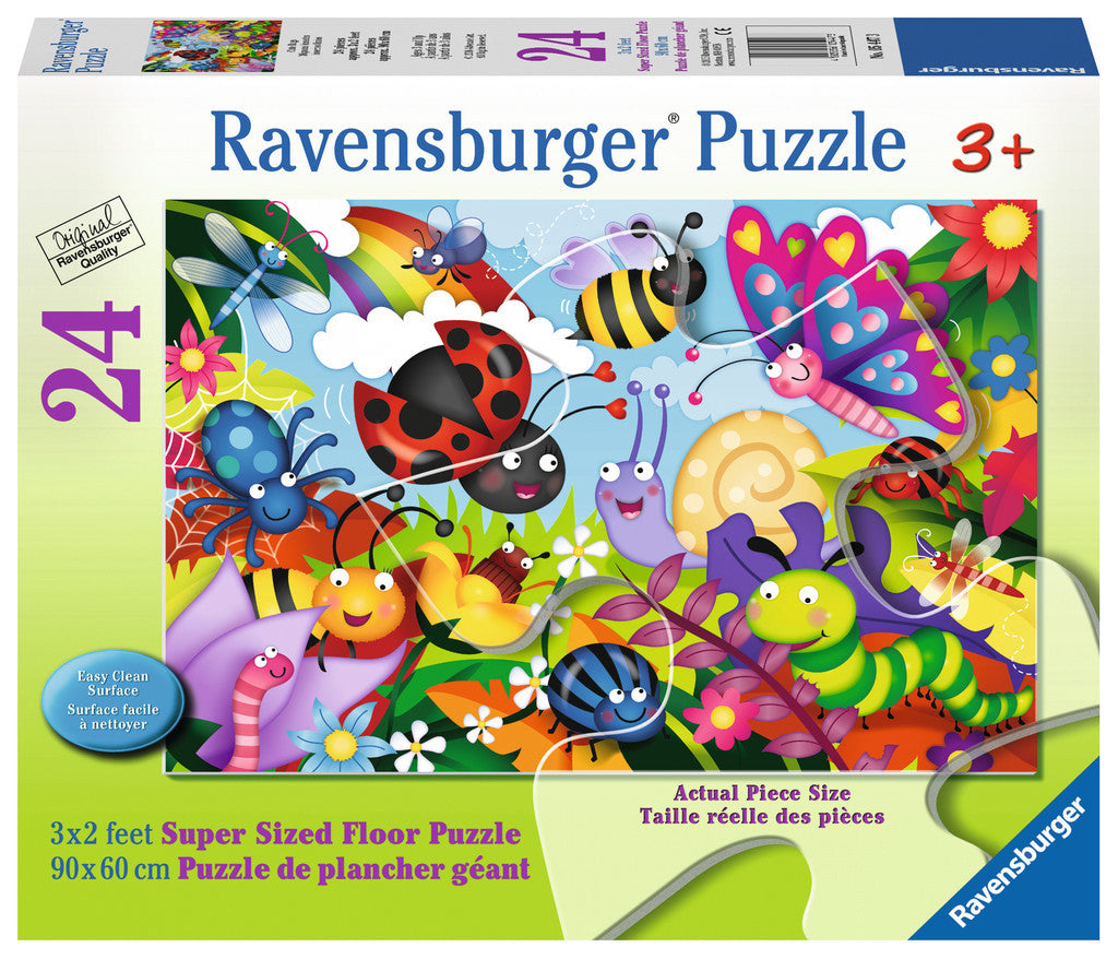 Ravensburger Children's Puzzles 24 pc Super Sized Floor Puzzles - Cute Bugs 5447