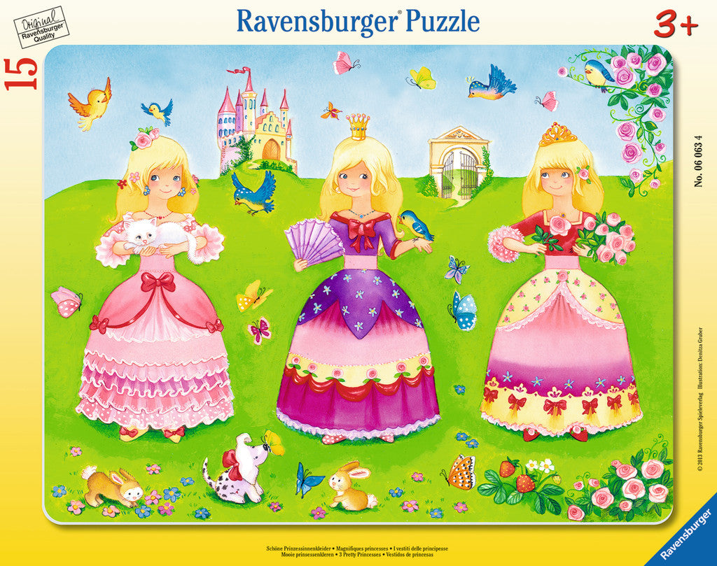 Ravensburger Children's Puzzles My First Frame Puzzles - 3 Pretty Princesses (15 pc Puzzle) 6063