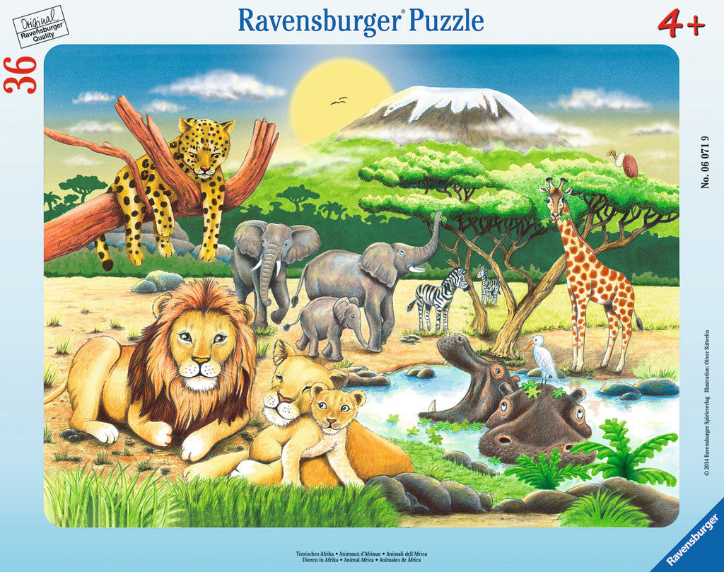 Ravensburger Children's Puzzles Frame Puzzles - African Animals (36 pc Puzzle) 6071