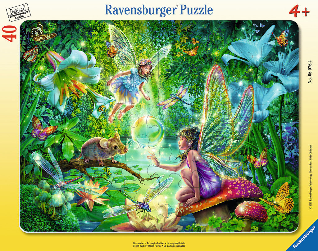 Ravensburger Children's Puzzles Frame Puzzles - Fairy Magic (40 pc Puzzle) 6076