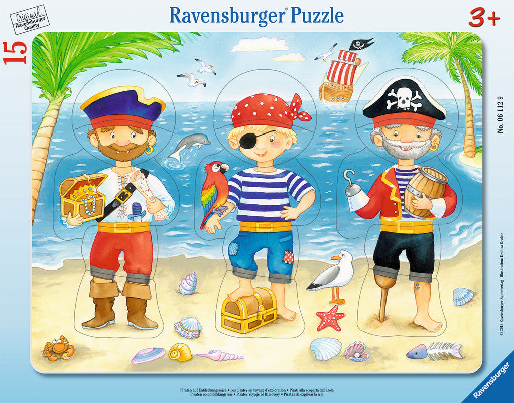 Ravensburger Children's Puzzles My First Frame Puzzles - Pirates Voyage of Discovery (15 pc Puzzle) 6112