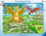 Ravensburger Children's Puzzles Frame Puzzles - The Dragon Family (35 pc Puzzle) 6628